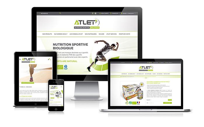 atlet nutrition création identité logo décines lyon